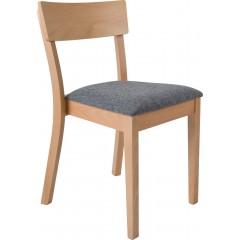 Jídelní dřevěná židle ENRICO s čalouněným sedákem