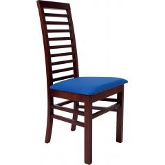Jídelní dřevěná židle MILADA s čalouněným sedákem