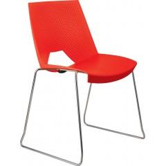 Plastová jednací židle STRIKE - sáně