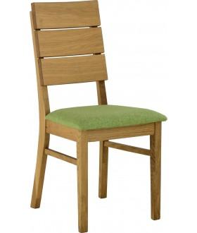 Jídelní dřevěná židle INSIDE U s čalouněným sedákem