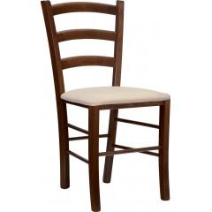 Jídelní dřevěná židle VENEZIA U s čalouněným sedákem