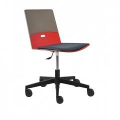 Plastová židle DUETTO - kříž s čalouněným sedákem