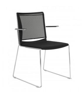 Plastová jednací židle FILO - opěrák síť