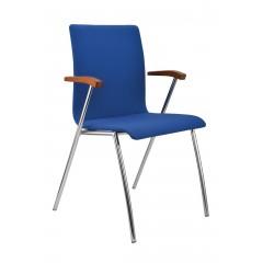 Konferenční celočalouněná židle IBIS s područkami