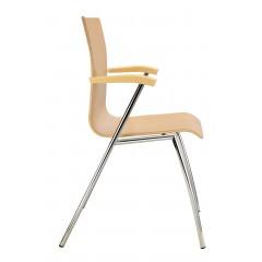 Konferenční dřevěná židle IBIS s područkami