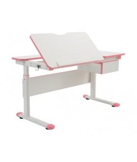 Rostoucí dětský psací stůl FUXO růžový