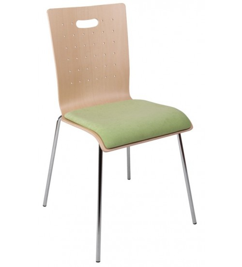 Jednací židle TULIP s čalouněným sedákem