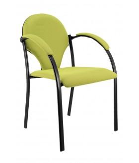 Jednací židle NEON v černém plastu