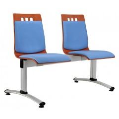Dřevěná lavice  BERNI  2-sedák  - čalouněný sedák a opěrák