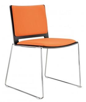 Plastová jednací židle FILO - čalouněný sedák a opěrák