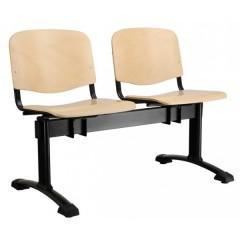 Dřevěná lavice do čekáren  IMPERIA - 2-5 sedadel - výběr barevného prvedení