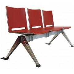 Plastová lavice do čekáren FILO - 2-5 sedák - výběr barevného provedení