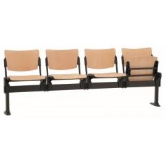 Dřevěná lavice do čekáren  MIA  - 2-5 sedák - sklopný sedadla -výběr barvy moření