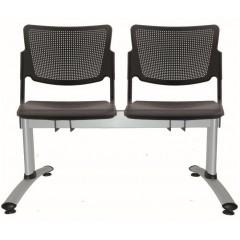 Kovová lavice do čekáren MIA - 2-5 sedák  - sklopná sedadla