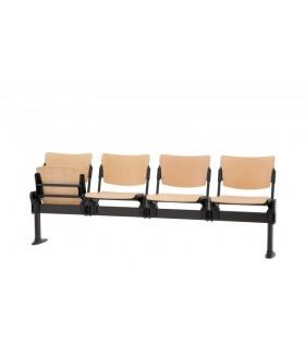 Dřevěná lavice MIA 2-sedák - sklopný sedák