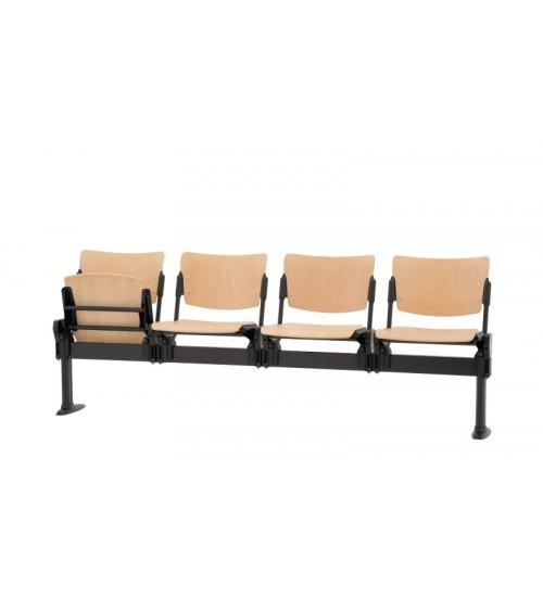 Dřevěná lavice MIA 4-sedák - sklopný sedák