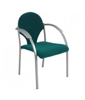 Jednací židle NEON v šedém plastu