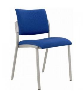 Jednací židle SQUARE šedý plast čalouněná