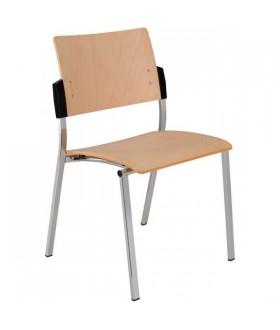 Jednací židle SQUARE dřevěná