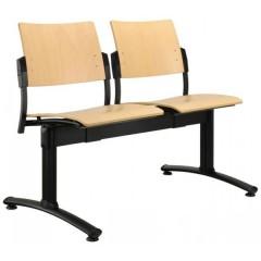 Dřevěná lavice do čekáren SQUARE - 2-5 sedák - barva moření buk