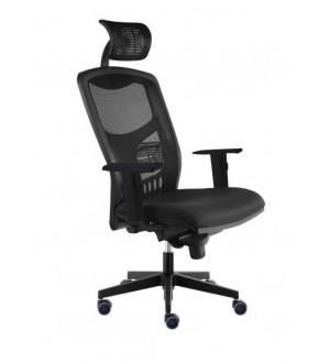 Kancelářská židle YORK SÍŤ - černý