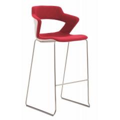 Barová židle AOKI 2160/SB TC - čalouněná z přední části