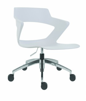 Jednací židle SAOKI ALU - plastová