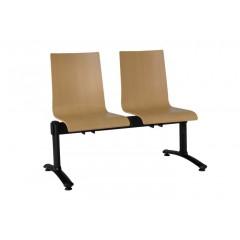 Dřevěná lavice do čekáren ELSI - 2-5 sedadel - přírodní buk