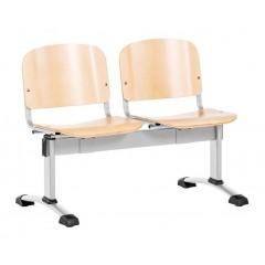 Dřevěná lavice do čekáren 112X LN - 2-5 sedadel - přírodní buk