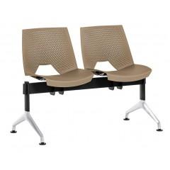 Plastová lavice do čekáren STRIKE P ALU - 2-4 sedadel - výběr barevného provedení