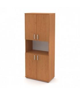 Kancelářská skříň Signe vysoká V-80-03-N 4dveřová s nikou