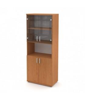Kancelářská skříň Signe vysoká V-80-04-N 4dveřová prosklená s nikou