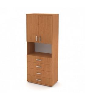 Kancelářská skříň Signe vysoká V-80-09 2dveřová se zásuvkami
