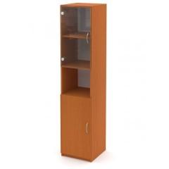 Kancelářský skříň Economics  prosklená levá - výška 180 cm - CC161