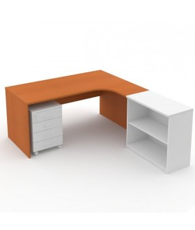 Kancelářský stůl Economics rohový pravý 180x120 cm