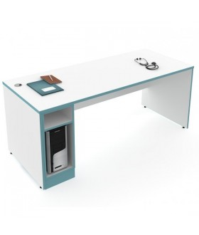 Lékařský pracovní stůl s boxem na PC ST-02 - levý