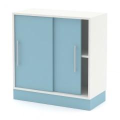 Skříň nízká posuvné dveře N 80-03 - výška 83 cm