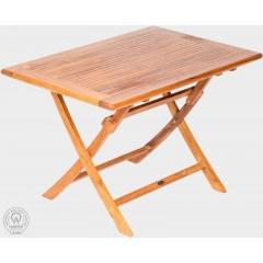 Skládací teakový  zahradní stůl  VASO 11026 - 80x120 cm