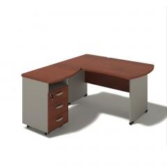 Kancelářský stůl Berlin 140x160x74 cm - B174