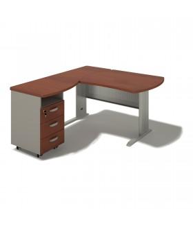 Kancelářský stůl 140x160x74 cm - BERLIN