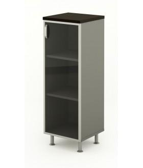 Kancelářská skříň prosklená 45x43x129,2 cm - BERLIN lux