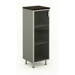 Kancelářská skříň prosklená Berlin Lux 45x43x129,2 cm- B412