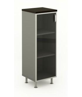 Kancelářská skříň prosklená 45x43x129,2 cm- BERLIN lux