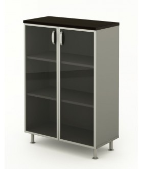 Kancelářská skříň prosklená 90x43x129,2 cm - BERLIN lux