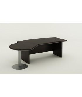 Psací stůl s jednacím prvkem Berlin lux 255x155 cm - BE 103
