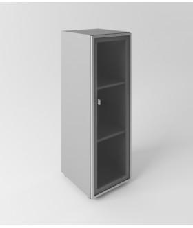 Skříň se skleněnými dveřmi Evropa pravá - výška 119,5 cm