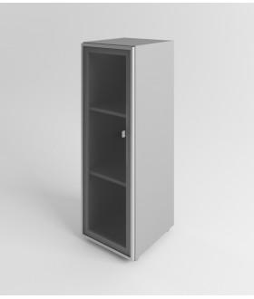 Skříň se skleněnými dveřmi Evropa levá - výška 119,5 cm