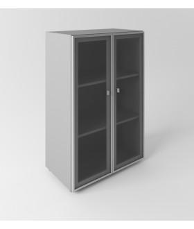 Skříň se skleněnými dveřmi Evropa - výška 119,5 cm
