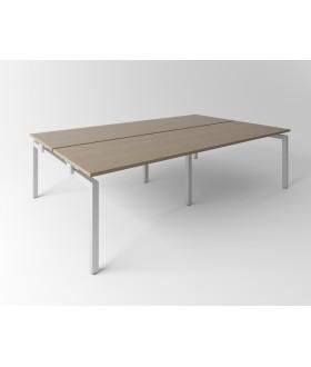 Psací stůl Evropa 276x163 cm - pro 4 pracovní místa