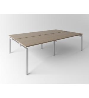 Psací stůl Evropa 316x163 cm - pro 4 pracovní místa - C321608